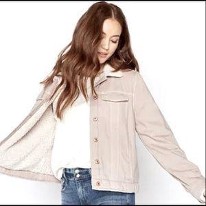Cream Cozy Sherpa Lined Jacket